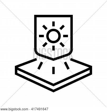 Warm Fabrics Properties Line Icon Vector. Warm Fabrics Properties Sign. Isolated Contour Symbol Blac