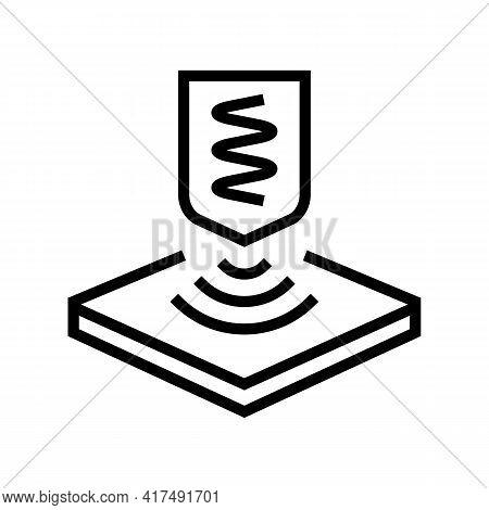 Elastic Fabrics Properties Line Icon Vector. Elastic Fabrics Properties Sign. Isolated Contour Symbo