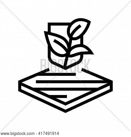 Eco Fabrics Properties Line Icon Vector. Eco Fabrics Properties Sign. Isolated Contour Symbol Black