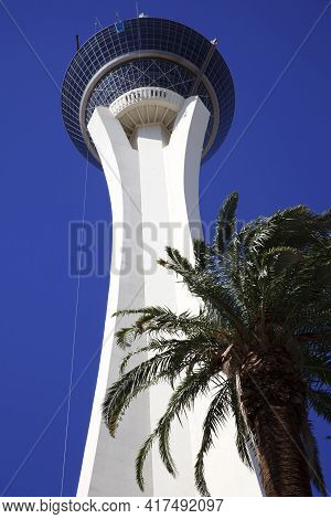 Las Vegas, Nevada / Usa - August 27, 2015: Stratosphere Hotel In Las Vegas, Nevada, Usa