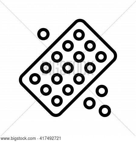 Drug Homeopathy Package Line Icon Vector. Drug Homeopathy Package Sign. Isolated Contour Symbol Blac