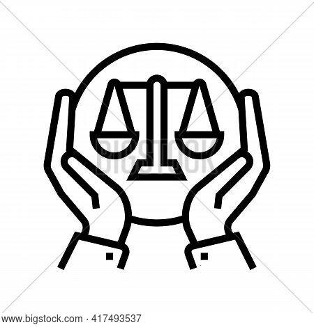 Legislation Law Dictionary Line Icon Vector. Legislation Law Dictionary Sign. Isolated Contour Symbo