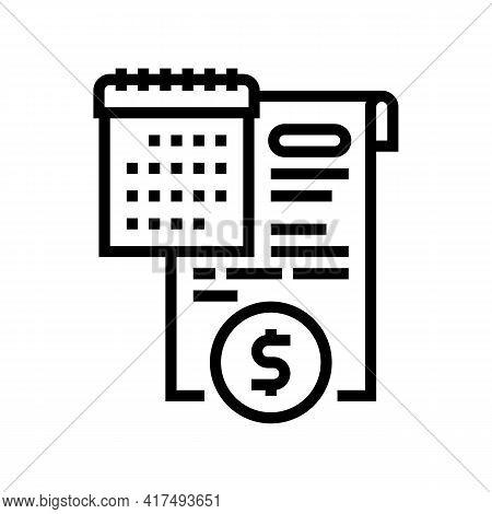 Compensation Law Dictionary Line Icon Vector. Compensation Law Dictionary Sign. Isolated Contour Sym