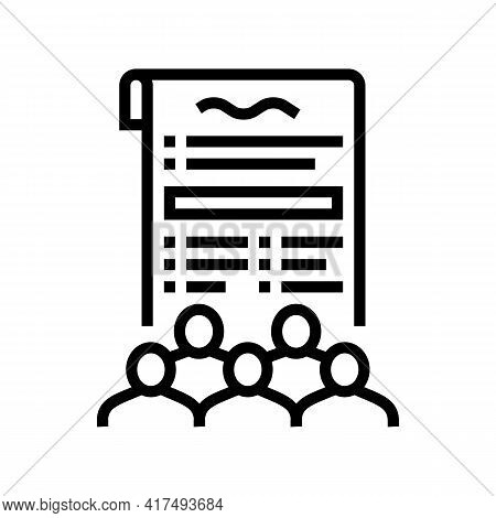 Social Norms Law Dictionary Line Icon Vector. Social Norms Law Dictionary Sign. Isolated Contour Sym