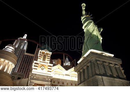 Las Vegas, Nevada / Usa - August 27: New York Hotel In Las Vegas, Nevada, Usa