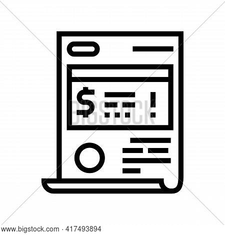 Penalty Law Dictionary Line Icon Vector. Penalty Law Dictionary Sign. Isolated Contour Symbol Black