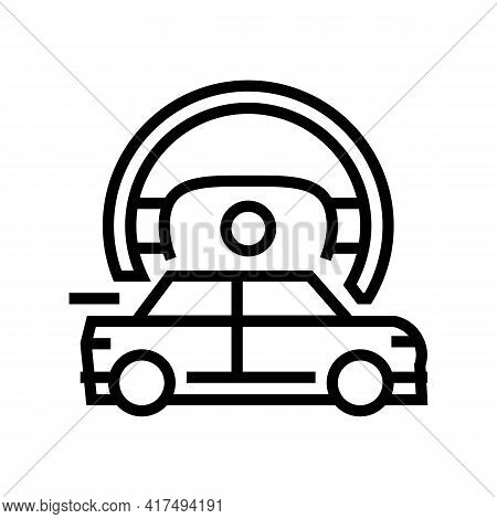 Fast Driving Mens Leisure Line Icon Vector. Fast Driving Mens Leisure Sign. Isolated Contour Symbol