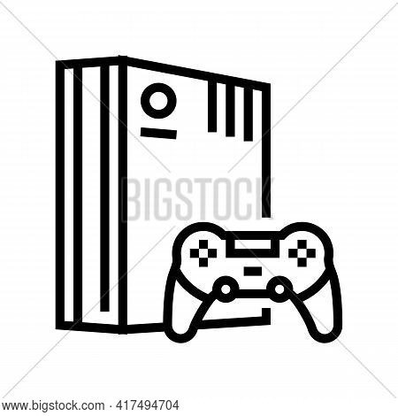 Video Games Mens Leisure Line Icon Vector. Video Games Mens Leisure Sign. Isolated Contour Symbol Bl