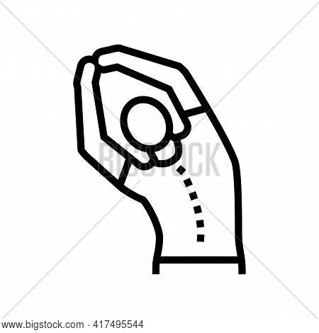 Stretching Scoliosis Line Icon Vector. Stretching Scoliosis Sign. Isolated Contour Symbol Black Illu