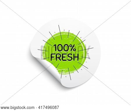 Fresh Organic Food Banner. Circle Sticker With Offer Banner. Nature Bio Product Tag. Vegetarian Eco