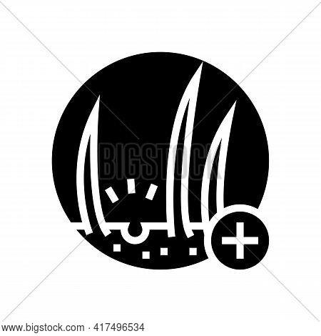 Hair Loss Clinic Glyph Icon Vector. Hair Loss Clinic Sign. Isolated Contour Symbol Black Illustratio