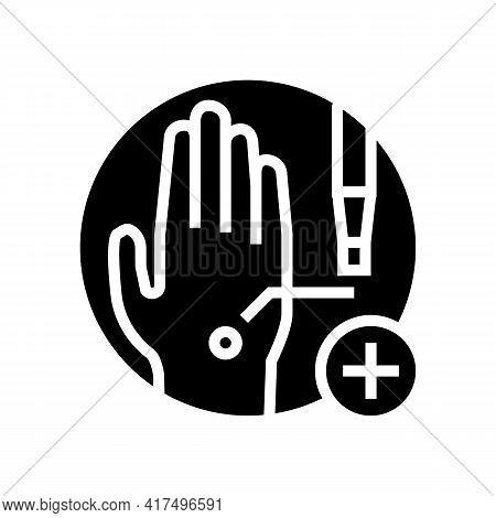 Skin Biopsy Glyph Icon Vector. Skin Biopsy Sign. Isolated Contour Symbol Black Illustration