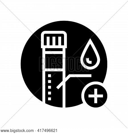 Blood Biopsy Glyph Icon Vector. Blood Biopsy Sign. Isolated Contour Symbol Black Illustration