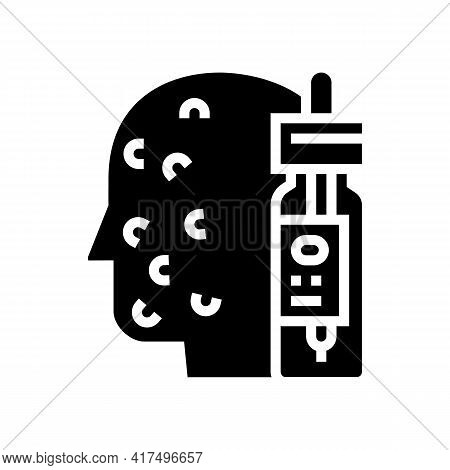 Chemical Peels For Acne Glyph Icon Vector. Chemical Peels For Acne Sign. Isolated Contour Symbol Bla
