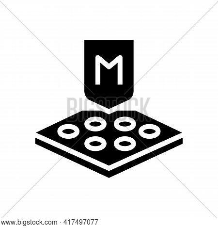 Membrane Fabrics Properties Glyph Icon Vector. Membrane Fabrics Properties Sign. Isolated Contour Sy