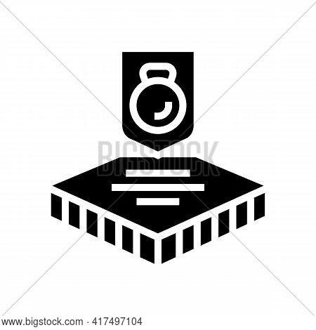 Durable Fabrics Properties Glyph Icon Vector. Durable Fabrics Properties Sign. Isolated Contour Symb