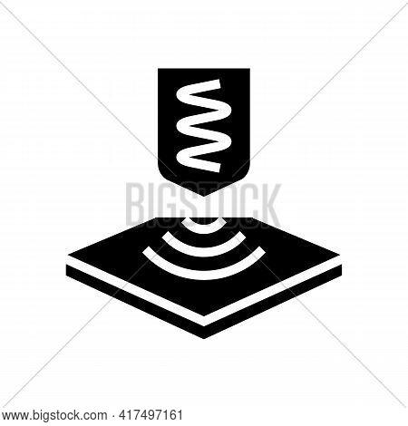 Elastic Fabrics Properties Glyph Icon Vector. Elastic Fabrics Properties Sign. Isolated Contour Symb