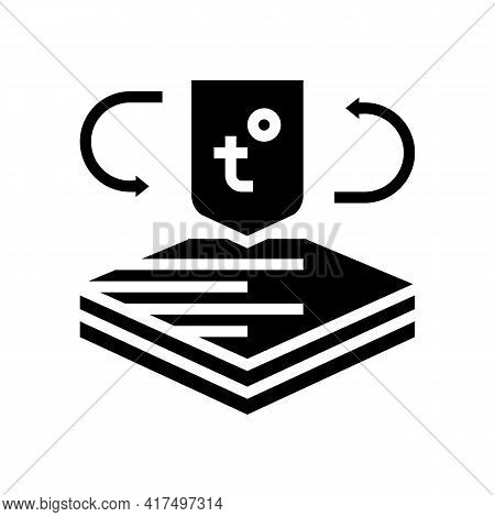 Thermo Fabrics Properties Glyph Icon Vector. Thermo Fabrics Properties Sign. Isolated Contour Symbol