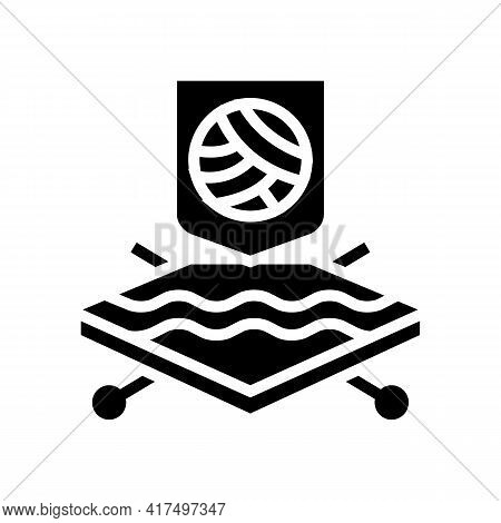 Wool Fabrics Properties Glyph Icon Vector. Wool Fabrics Properties Sign. Isolated Contour Symbol Bla