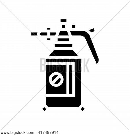 Chemical Treatment Gardening Glyph Icon Vector. Chemical Treatment Gardening Sign. Isolated Contour