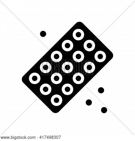 Drug Homeopathy Package Glyph Icon Vector. Drug Homeopathy Package Sign. Isolated Contour Symbol Bla