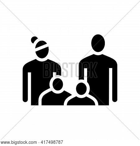Family Law Dictionary Glyph Icon Vector. Family Law Dictionary Sign. Isolated Contour Symbol Black I