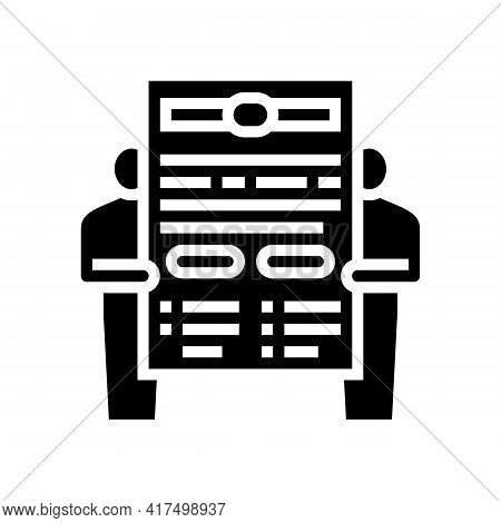 Leasing Contract Law Dictionary Glyph Icon Vector. Leasing Contract Law Dictionary Sign. Isolated Co