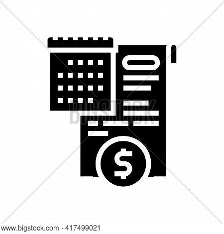 Compensation Law Dictionary Glyph Icon Vector. Compensation Law Dictionary Sign. Isolated Contour Sy