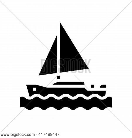 Yacht Mens Leisure Glyph Icon Vector. Yacht Mens Leisure Sign. Isolated Contour Symbol Black Illustr