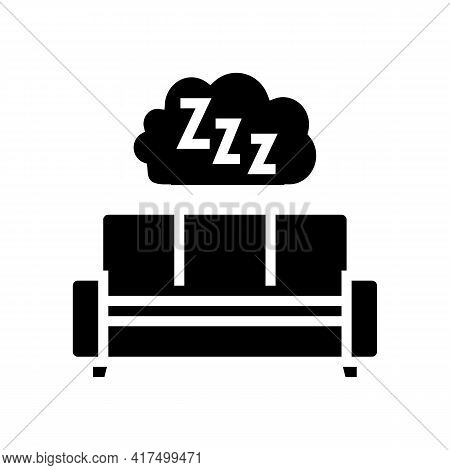 Sleeping Mens Leisure Glyph Icon Vector. Sleeping Mens Leisure Sign. Isolated Contour Symbol Black I