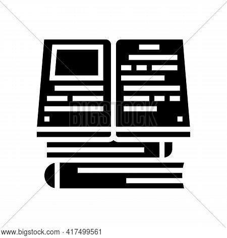 Reading Books Mens Leisure Glyph Icon Vector. Reading Books Mens Leisure Sign. Isolated Contour Symb