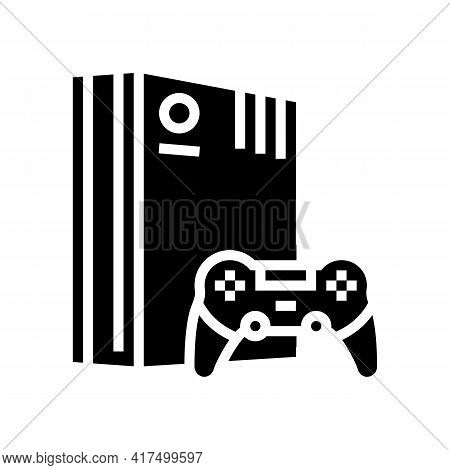 Video Games Mens Leisure Glyph Icon Vector. Video Games Mens Leisure Sign. Isolated Contour Symbol B