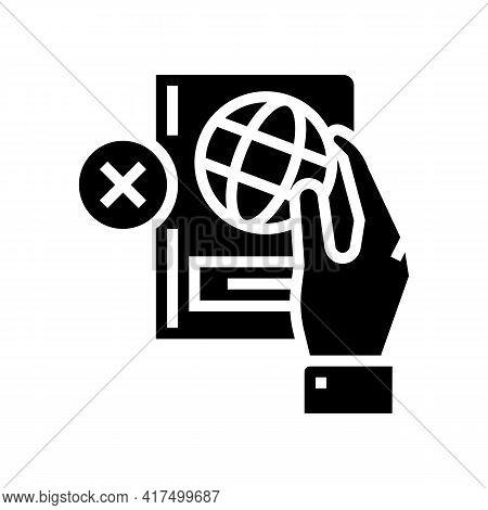 Lost Passport Document Refugee Glyph Icon Vector. Lost Passport Document Refugee Sign. Isolated Cont