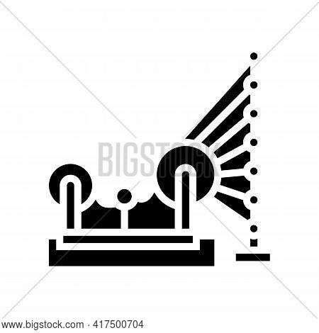Weaving And Warping Cotton Machine Glyph Icon Vector. Weaving And Warping Cotton Machine Sign. Isola