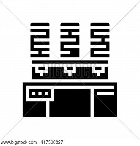 Painting Silk Thread Glyph Icon Vector. Painting Silk Thread Sign. Isolated Contour Symbol Black Ill