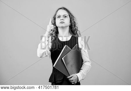School Exam Concept. Prepare For Exam. Preparing To Exams In Library. Small Child Formal Wear. Forma