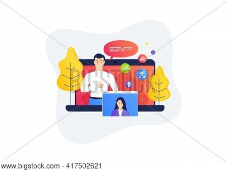 Winner Podium, Ole Chant And Arena Stadium Icons Simple Set. Remote Work Banner. Home Education Clas
