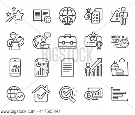 Education Icons Set. Included Icon As Accounting Wealth, Quick Tips, Magistrates Court Signs. Portfo