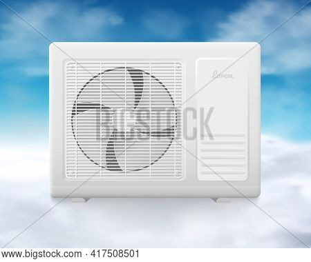Outdoor Air Conditioner With Indoor Temperature Climate Control Technology.