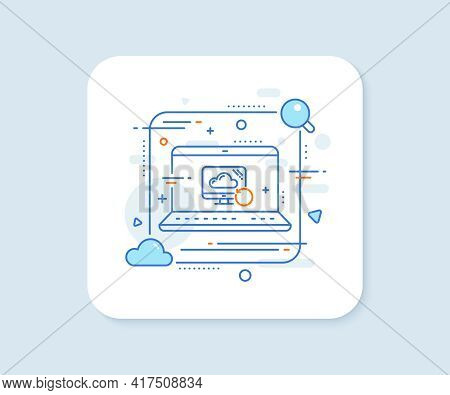 Recovery Cloud Line Icon. Abstract Vector Button. Backup Data Sign. Restore Information Symbol. Reco