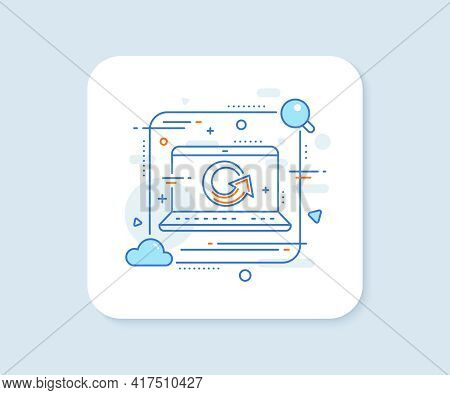Reload Arrow Line Icon. Abstract Vector Button. Update Arrowhead Symbol. Navigation Pointer Sign. Re