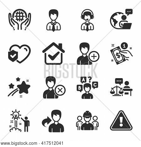 Set Of People Icons, Such As Engineering Team, Share, Shipping Support Symbols. Payment Method, Orga
