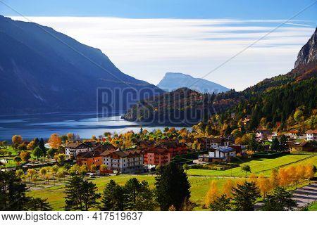 Molveno resort in Trentino Alto Adige, Italy, Europe