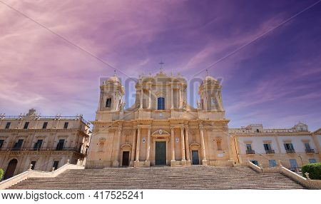 Duomo Basilica, Noto, Sicily, Italy
