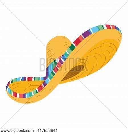 Isolated Traditional Mexican Hat. Mexican Cultur. Cinco De Mayo - Vector
