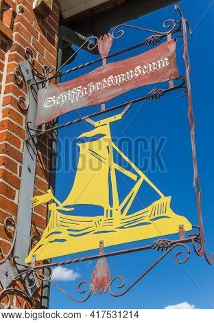 Haren, Germany - May 09, 2020: Iron Sign With The Name Of The Maritime Museum In Haren, Germany