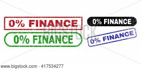 0 Percent Finance Grunge Seal Stamps. Flat Vector Grunge Seal Stamps With 0 Percent Finance Title In