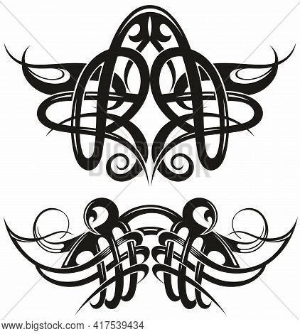 Tribal Tattoo Design Elements Set For Your Design