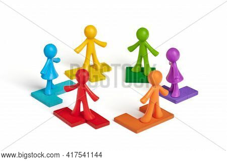 . Human Figures Depict Concepts: The Hierarchical System Of The Organization Of The Company, The Rec