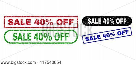 Sale 40 Percent Off Grunge Seal Stamps. Flat Vector Grunge Seal Stamps With Sale 40 Percent Off Phra
